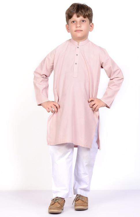 Ready to Wear Kurta For Boys - Pink - LB1608