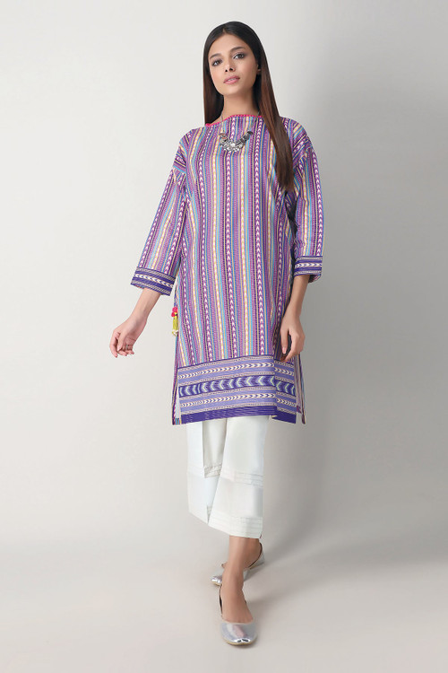 Khaadi 2 Piece Custom Stitched Suit - Purple - LB17144