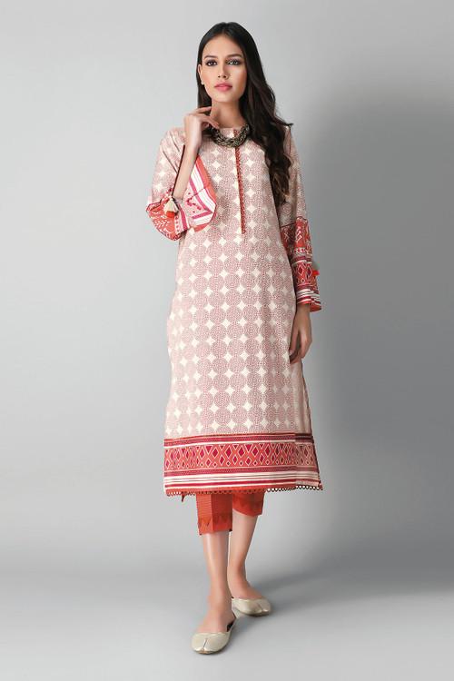 Khaadi 2 Piece Custom Stitched Suit - Orange - LB17165