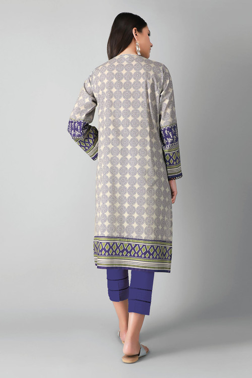 Khaadi 2 Piece Custom Stitched Suit - Purple - LB17166