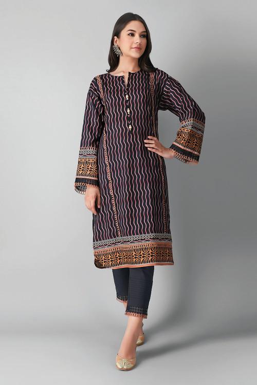 Khaadi 2 Piece Custom Stitched Suit - Black - LB17167