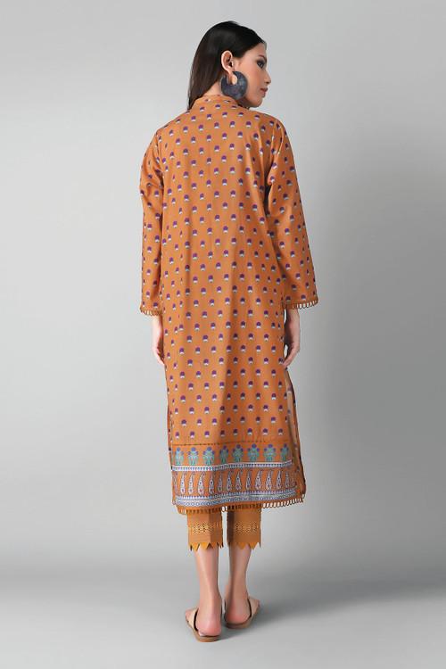 Khaadi 2 Piece Custom Stitched Suit - Brown - LB17170