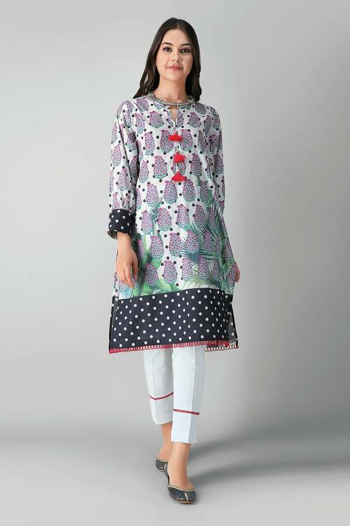Khaadi 2 Piece Custom Stitched Suit - White - LB17173