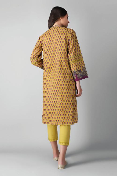 Khaadi 2 Piece Custom Stitched Suit - Yellow - LB17178