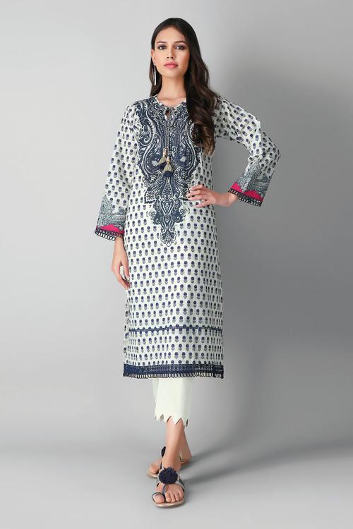 Khaadi 2 Piece Custom Stitched Suit - White - LB17179