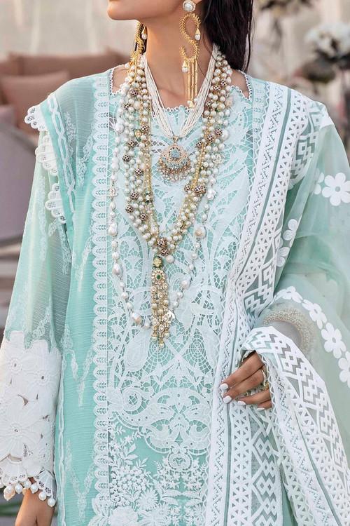 Sana Safinaz 3 Piece Custom Stitched Suit - Green - LB171823