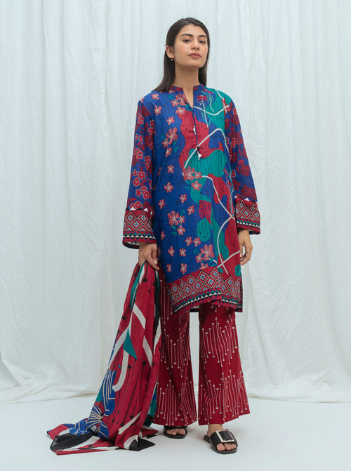 Beechtree 3 Piece Custom Stitched Suit - Blue - LB17188