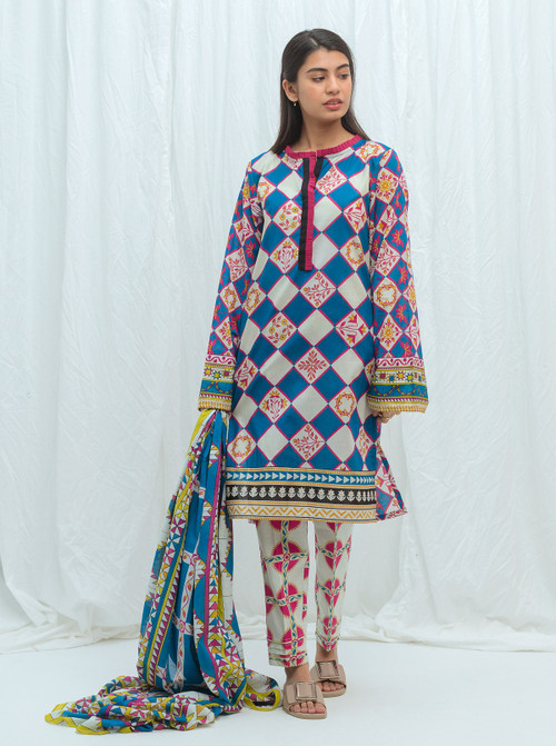Beechtree 3 Piece Custom Stitched Suit - Blue - LB17191