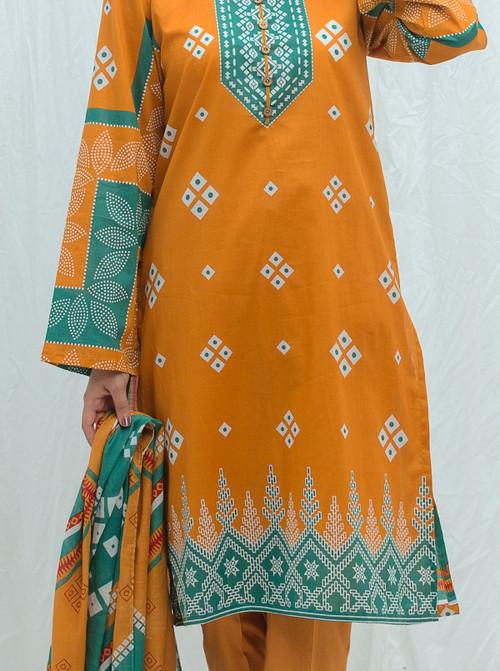 Beechtree 3 Piece Custom Stitched Suit - Orange - LB17195