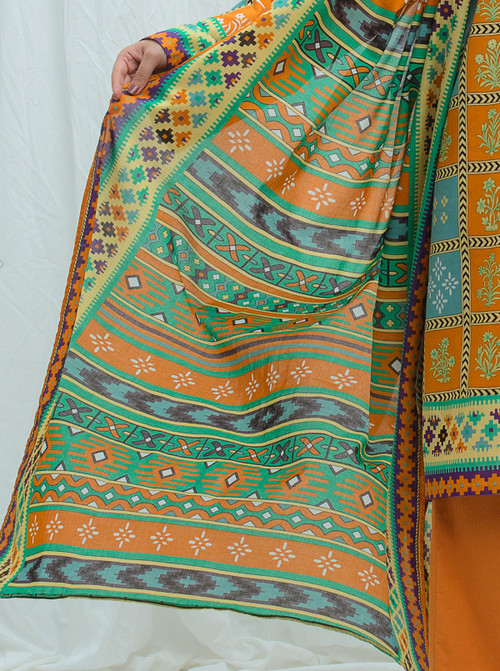 Beechtree 3 Piece Custom Stitched Suit - Orange - LB17196