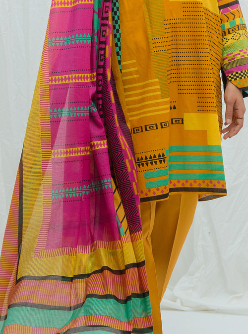 Beechtree 3 Piece Custom Stitched Suit - Yellow - LB17198
