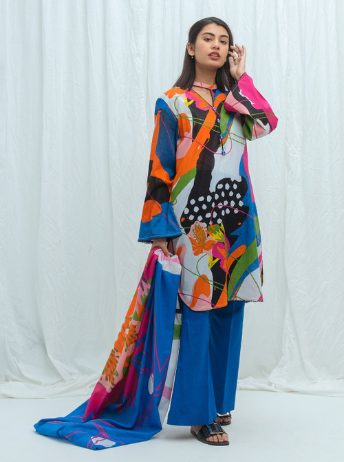 Beechtree 2 Piece Custom Stitched Suit - Blue - LB17227