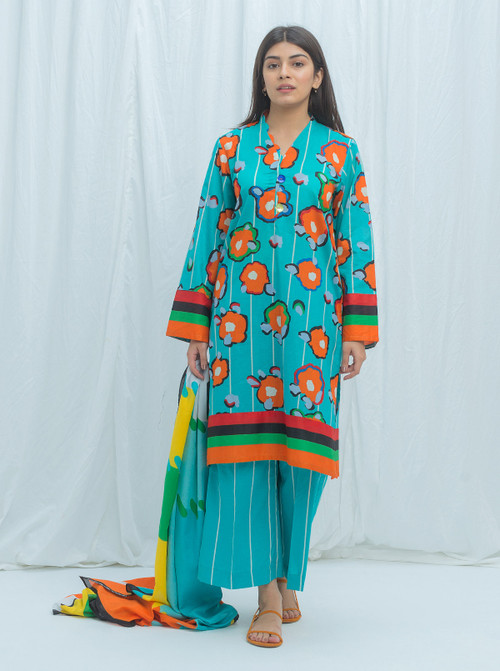 Beechtree 3 Piece Custom Stitched Suit - Blue - LB17255