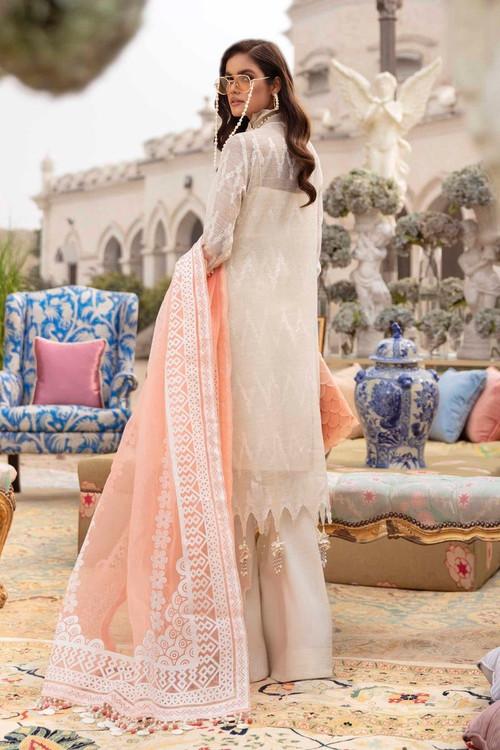 Sana Safinaz 3 Piece Custom Stitched Suit - Pink - LB17270