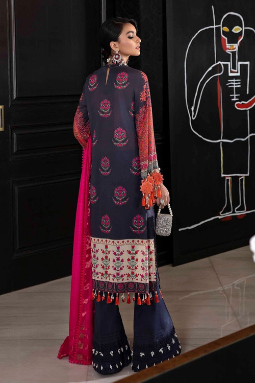 Sana Safinaz 3 Piece Custom Stitched Suit - Purple - LB17280