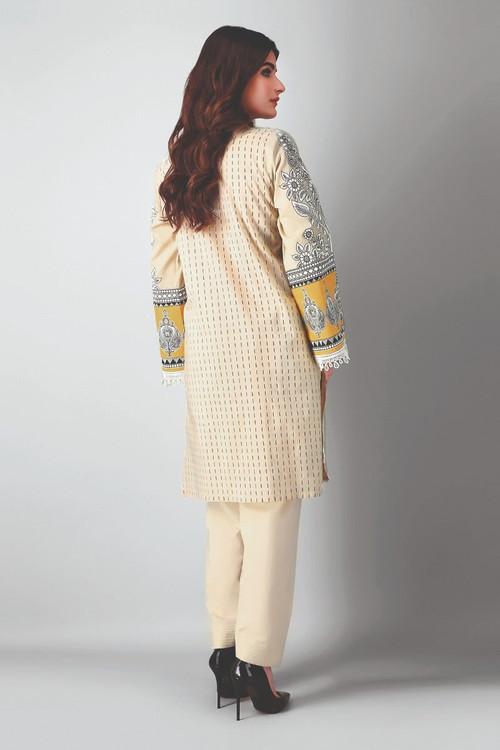 Khaadi 2 Piece Custom Stitched Suit - Beige - LB17349