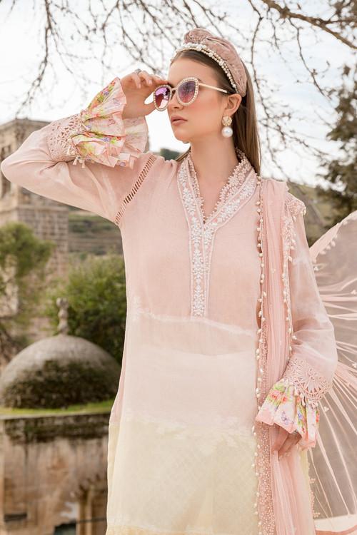 Maria B. 3 Piece Custom Stitched Suit - Pink - LB17352