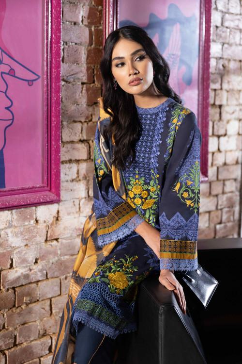 Sapphire 3 Piece Custom Stitched Suit - Blue - LB18918