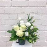 Soft Posy in a Designer Cup