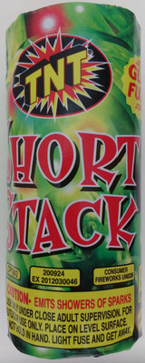 Patriotic TNT Fireworks Short Stack Fountain 1 Ct/pk CP1842