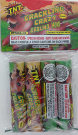 Patriotic TNT Fireworks Crackling Crazy Ground Hog Spinners, Select 4 Or 8 Spinners