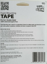 The Original Super Glue Double-Sided Foam Mounting Tape Pre-Cut Tabs