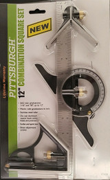 """12"""" Layout Multi-Angle Square Combination Protractor Measuring Set"""