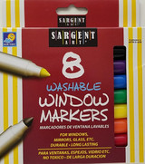 Glass Mirror Window Markers Washable 8 Colors/Pk