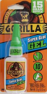 Gorilla Super Glue Gel 10 Sec Set 15g Green Cap Bottle