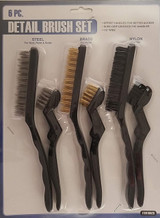 Detail Brush Set Steel Brass Nylon Brushes 6 Ct/Set