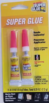 The Original Super Glue 0.12 oz/Tube 2 Tubes/Pack  Total 0.25 oz (7.2 g)