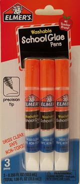 Elmer's Washable School Glue Pens Arts Crafts 3 Ct/Pk