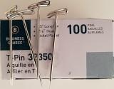 T-Pins 1.5 Inch (38mm) Posting Memos Cubicle Fabric Panels, Sewing Crafts 100 Pins/Pk