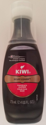 Kiwi Scuff Cover Instant Shine Black Shoe Polish Liquid w Applicator 2.4 oz (73 mL)