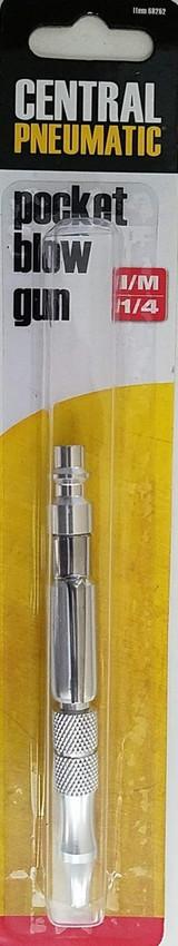 "HFT 68262 Adjustable 4.5"" Pocket Air Blow Gun with ¼"" Industrial Coupler"