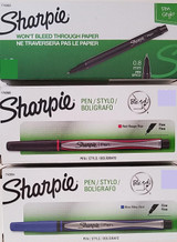 Sharpie Stylo Fine Point Pens Smear, Fade Bleed & Water Resistant, Select: Color & Number