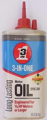 3-in-One Electric Motor Oil 3-in-1, 3 Oz Drip Bottle