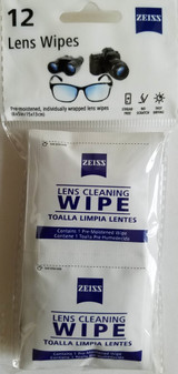 Zeiss Eyeglass Moist Cleaning Wipes Eyeglasses Sunglasses Cell Phones Binoculars  12 Packets/Pk