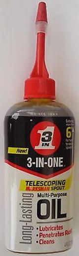 """3-in-One Multi-purpose Household Oil 3-in-1, 4 Oz Bottle W 6"""" Telescopic Spout"""