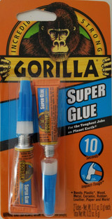 Gorilla Super Glue 10 Second Set Two 3 g Tubes/Pk Clear