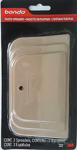 3M Bondo 357 Plastic Spreaders 3 Spreader/Pk