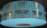 Double Stub Raffle Tickets 2000 Blue Tickets/Roll