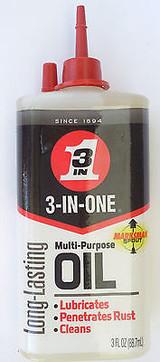 3-in-One Multi-purpose Household Oil 3-in-1, 3 Oz Drip Bottle