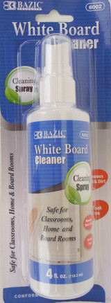 Bazic  Dry Erase Board Cleaner 4 Oz Spray Bottle 1/Pk Item 6002