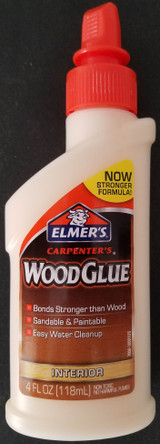 Elmer's Carpenter's Wood Glue Interior Sandable Paintable 4oz E7000