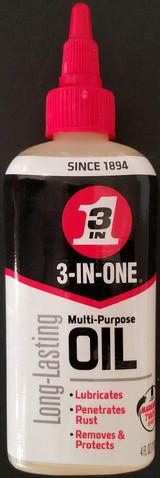 3-In-ONE Multi-Purpose Oil, 4 oz Twist Spout, Long-Lasting