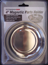 "4"" Magnetic Stainless Steel Parts Holder With Rubber Base"