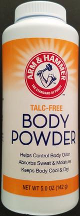 Arm & Hammer Body Powder Cornstarch Talc-Free Absorbs Wetness 5 Oz