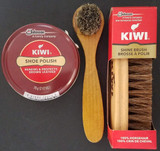 Kiwi Jumbo Brown Shoe Polish Cream, Kiwi Shine Brush & Dauber, Select: Items