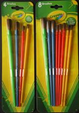 Crayola Paint Brushes Art Brush Painting Age 3+, Select: 4 or 8 Ct/Pk